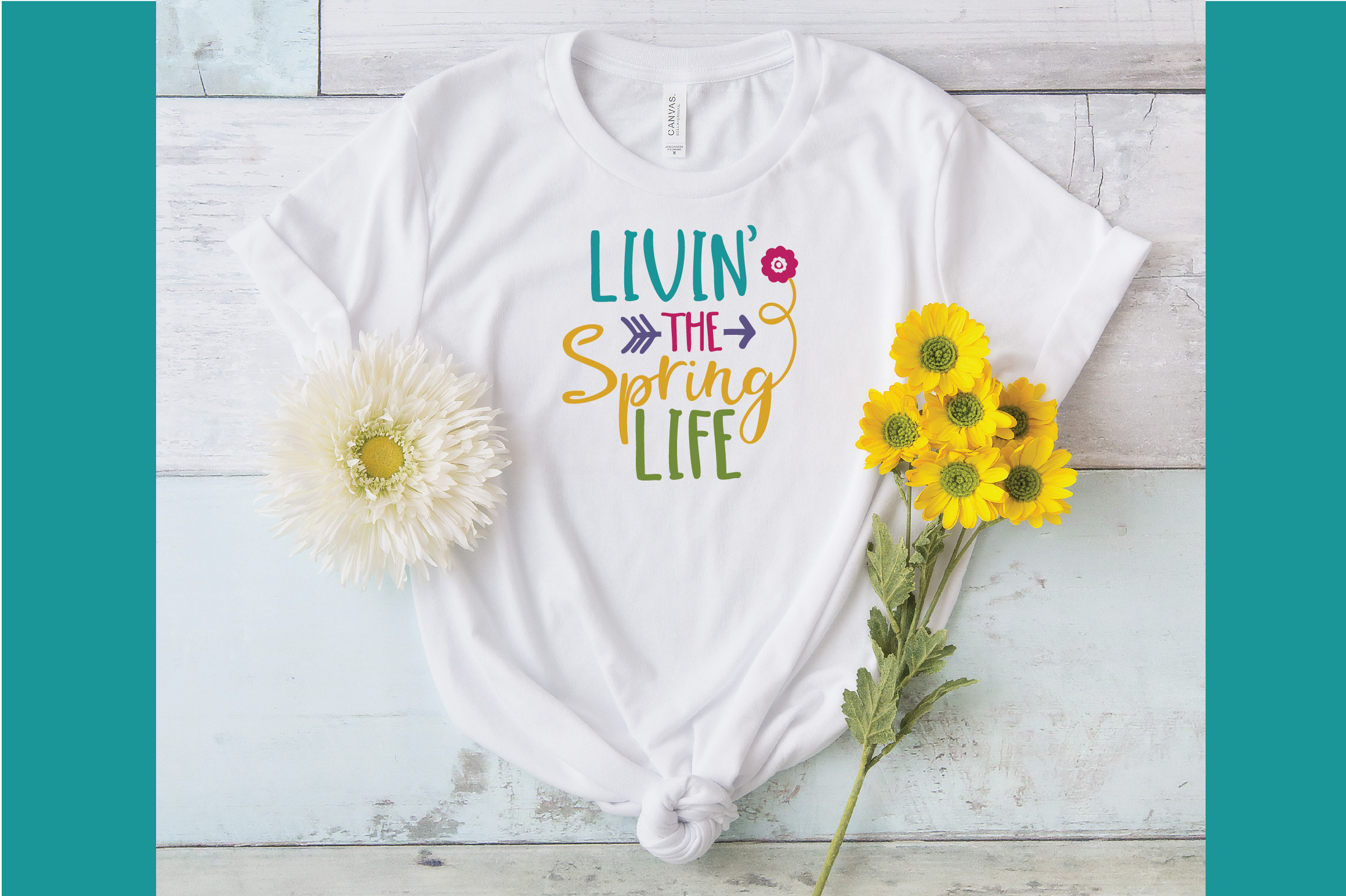 Livin' the Spring Life SVG Cut File - Spring SVG DXF EPS PNG example image 5