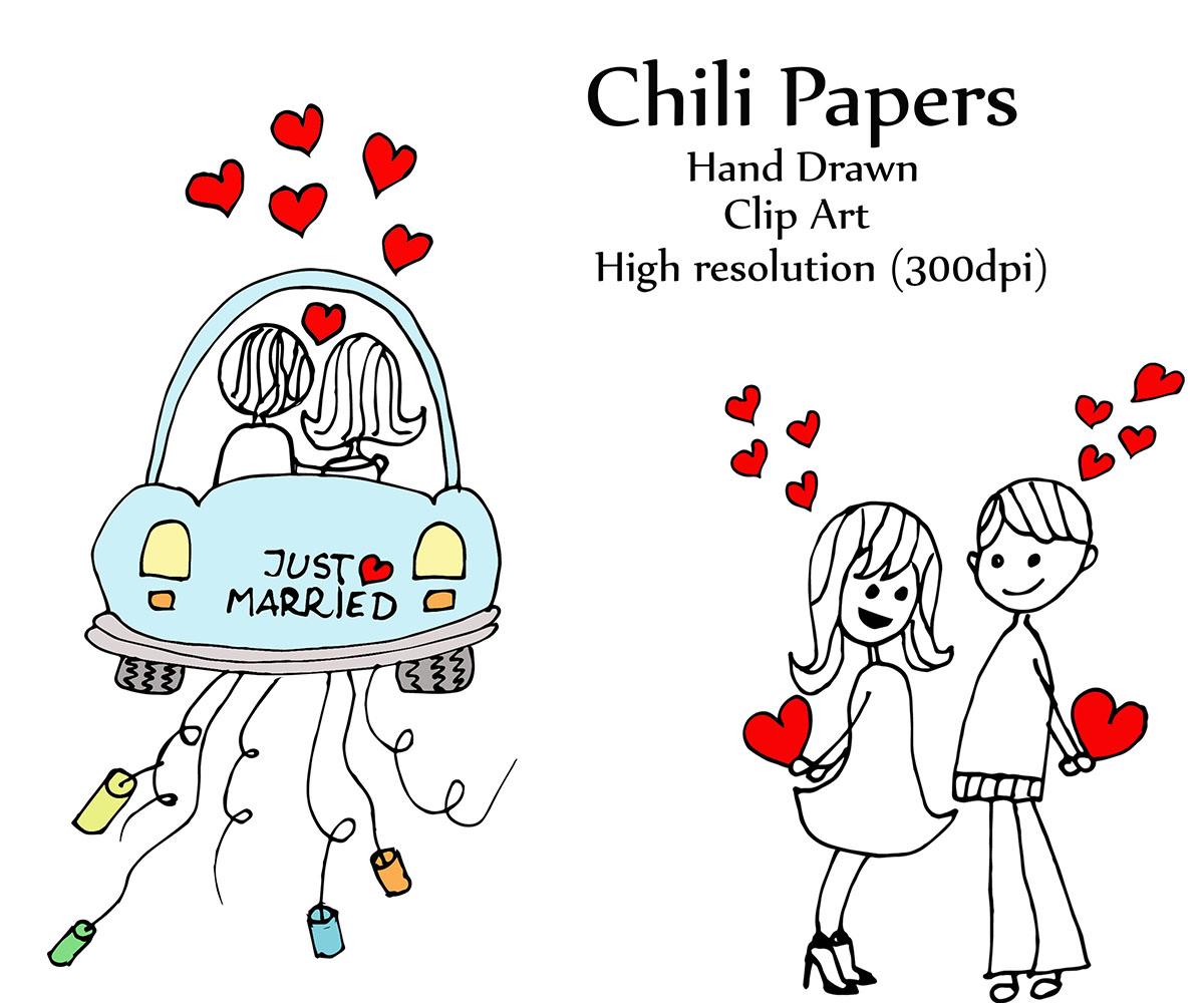 Wedding stick figure clip art example image 2