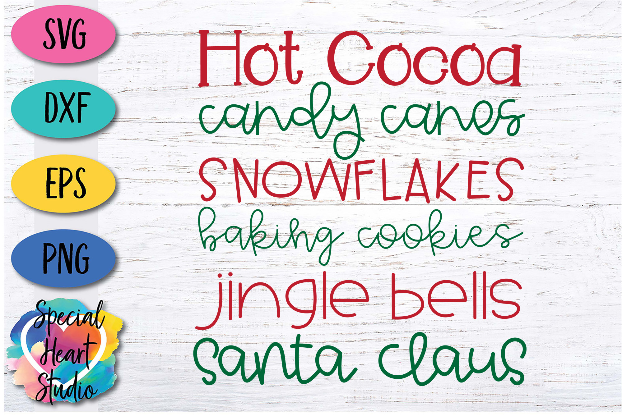 Christmas Word Art - A Christmas SVG Cut File example image 2