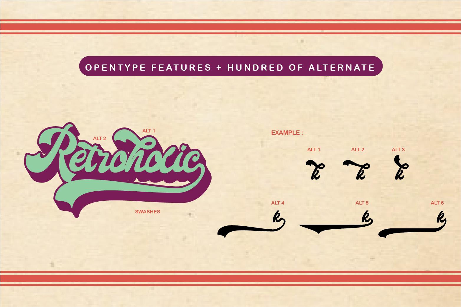 Retroholic - Retro Font example image 3