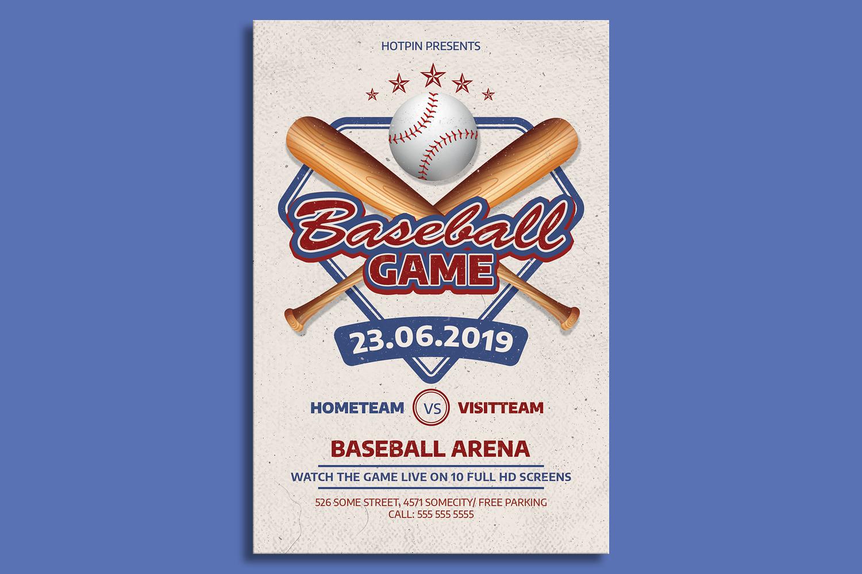 Baseball Game Flyer Template example image 1