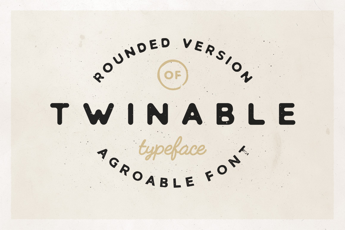 Twinable - Rounded Retro Font example image 1