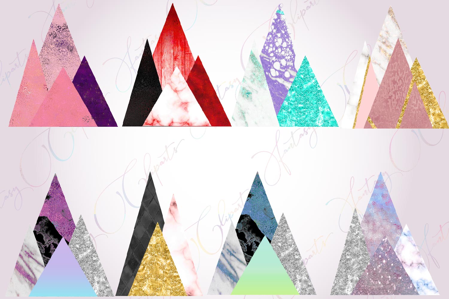 Modern Mountains Clipart example image 3