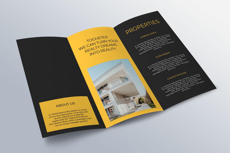 Trifold Real Estate Printable Brochure |Templates PSD/AI A4 example image 6