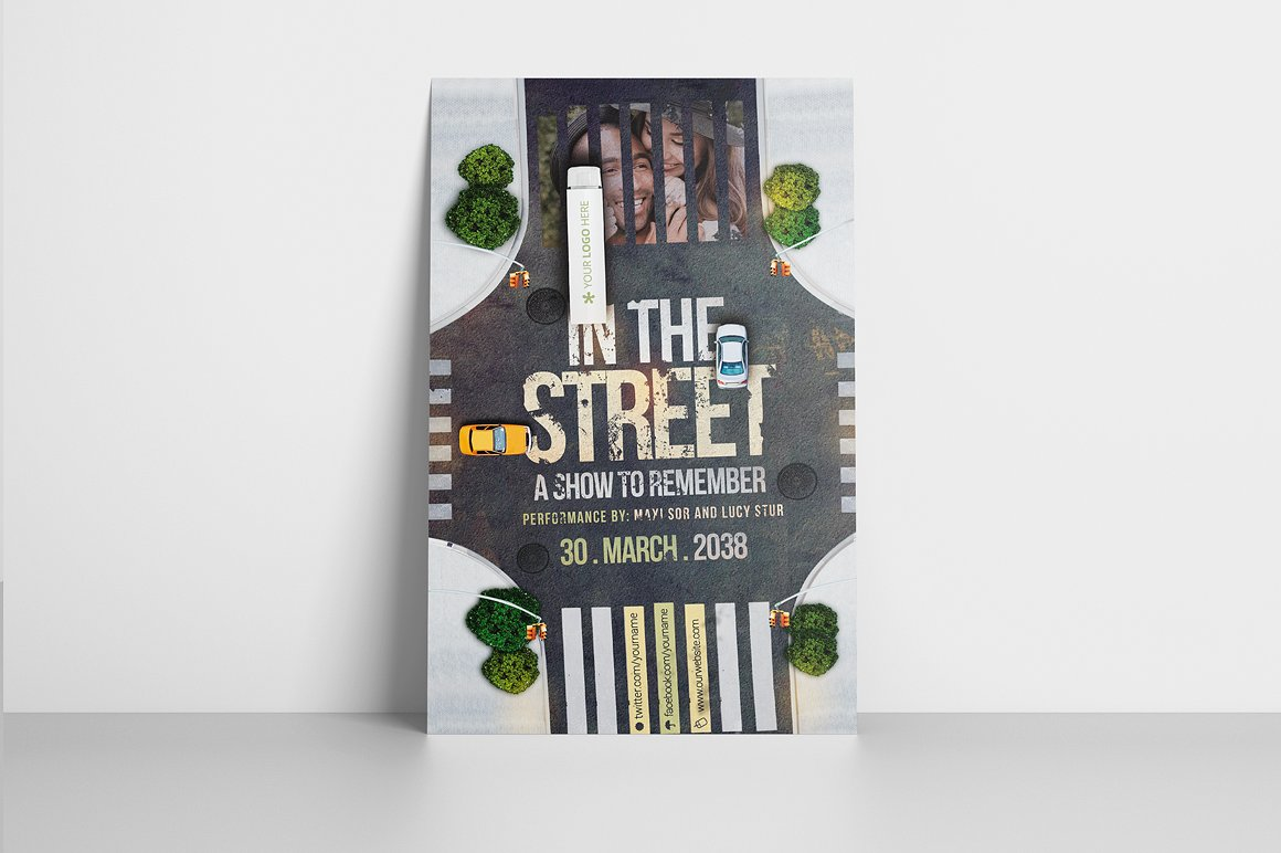 In The Street Flyer Template example image 3