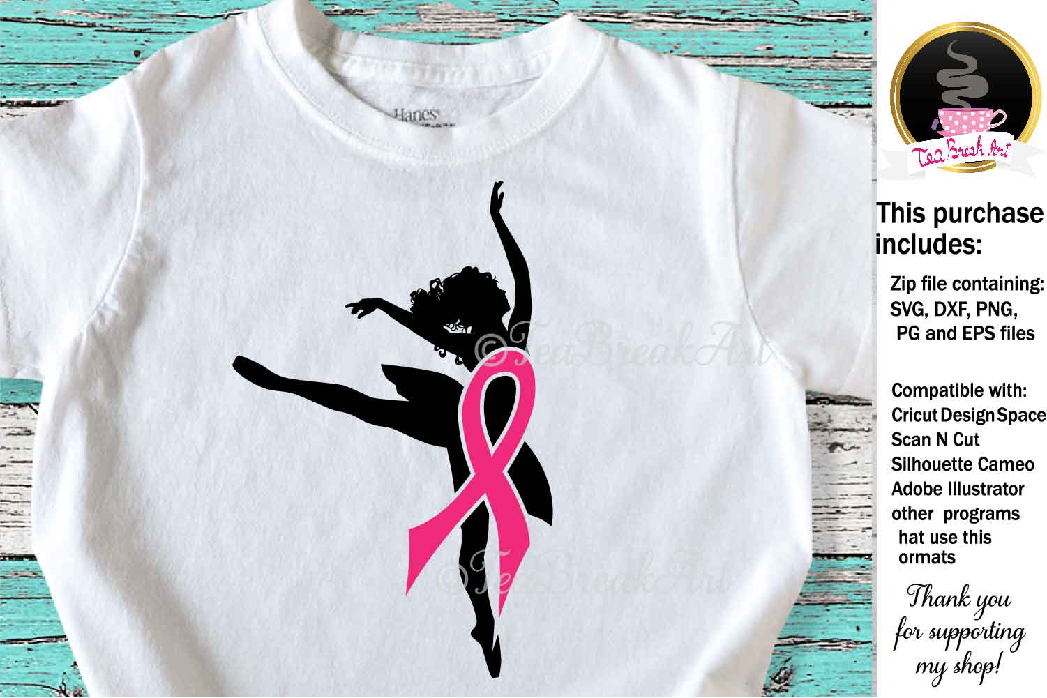 Breast Cancer Awareness Cutting Files 1086 example image 1