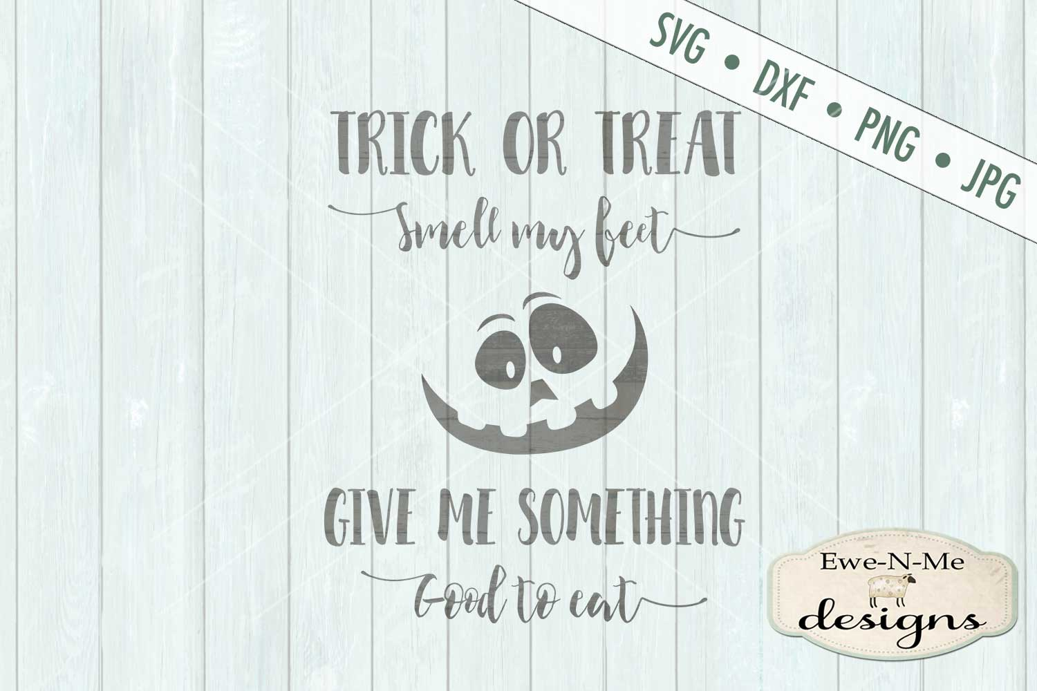 Trick or Treat Pumpkin Face SVG DXF Files example image 2