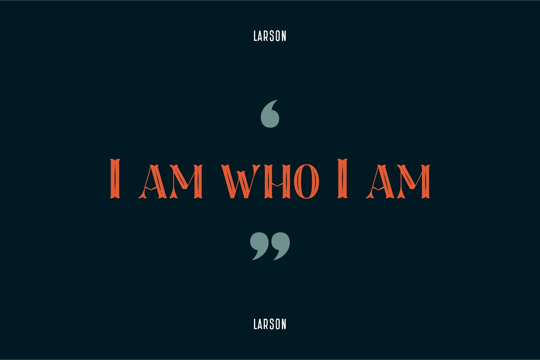 Larson Display Font example image 4
