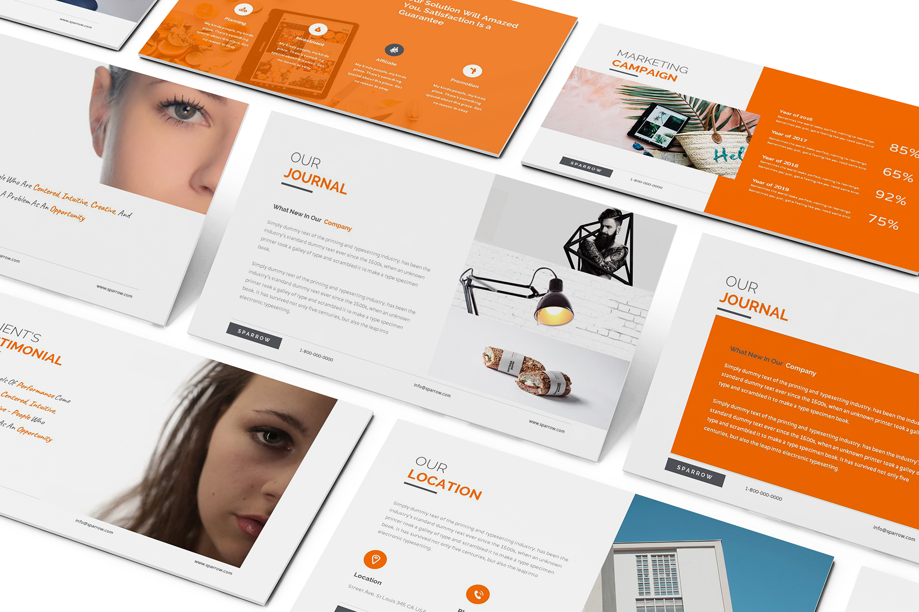 Sparrow - Creative Agency Powerpoint example image 8