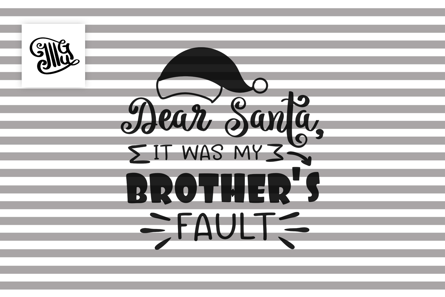 Dear Santa it was my brother's fault - Christmas kids example image 2