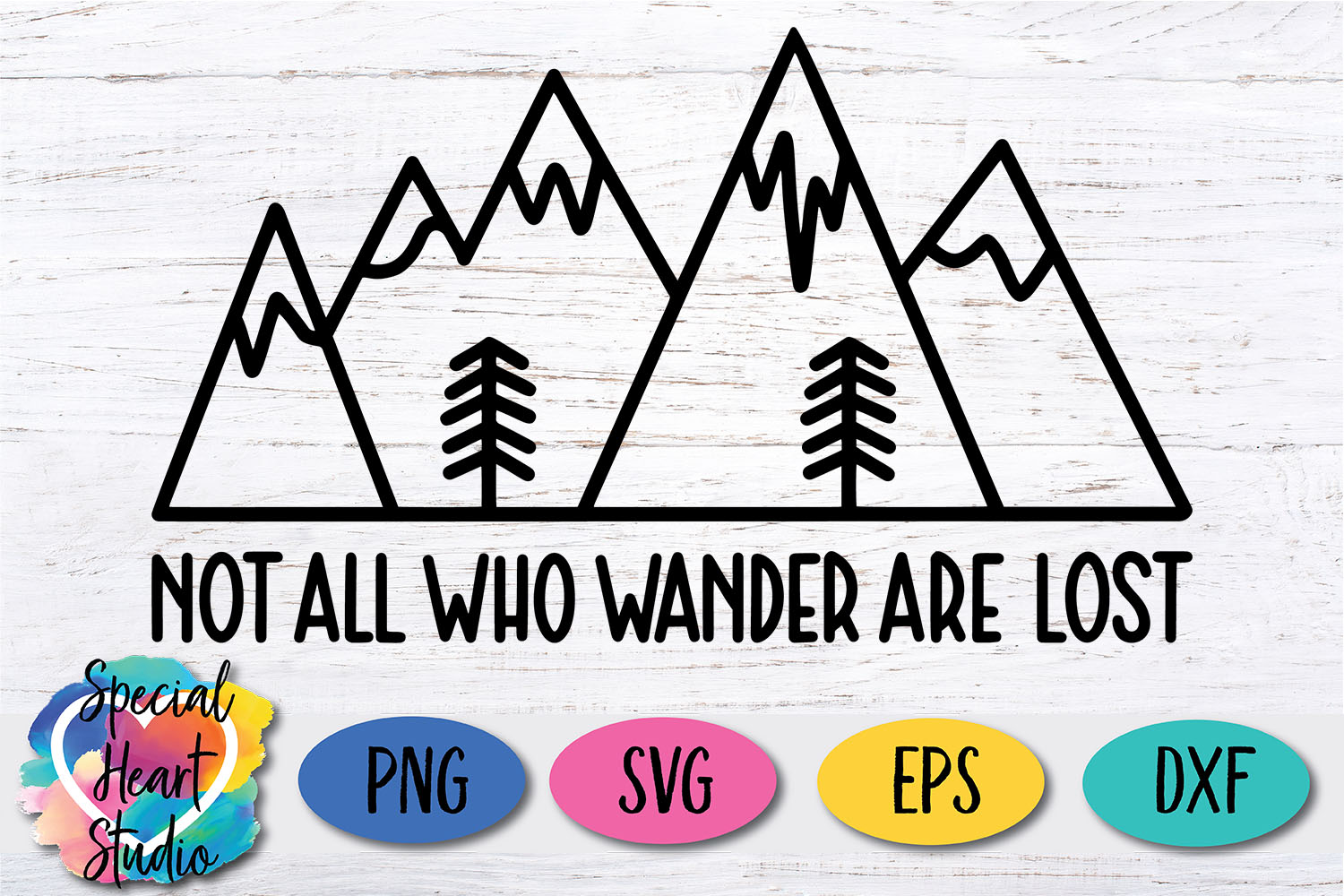 Not all who wander are lost - A hand lettered travel SVG example image 2