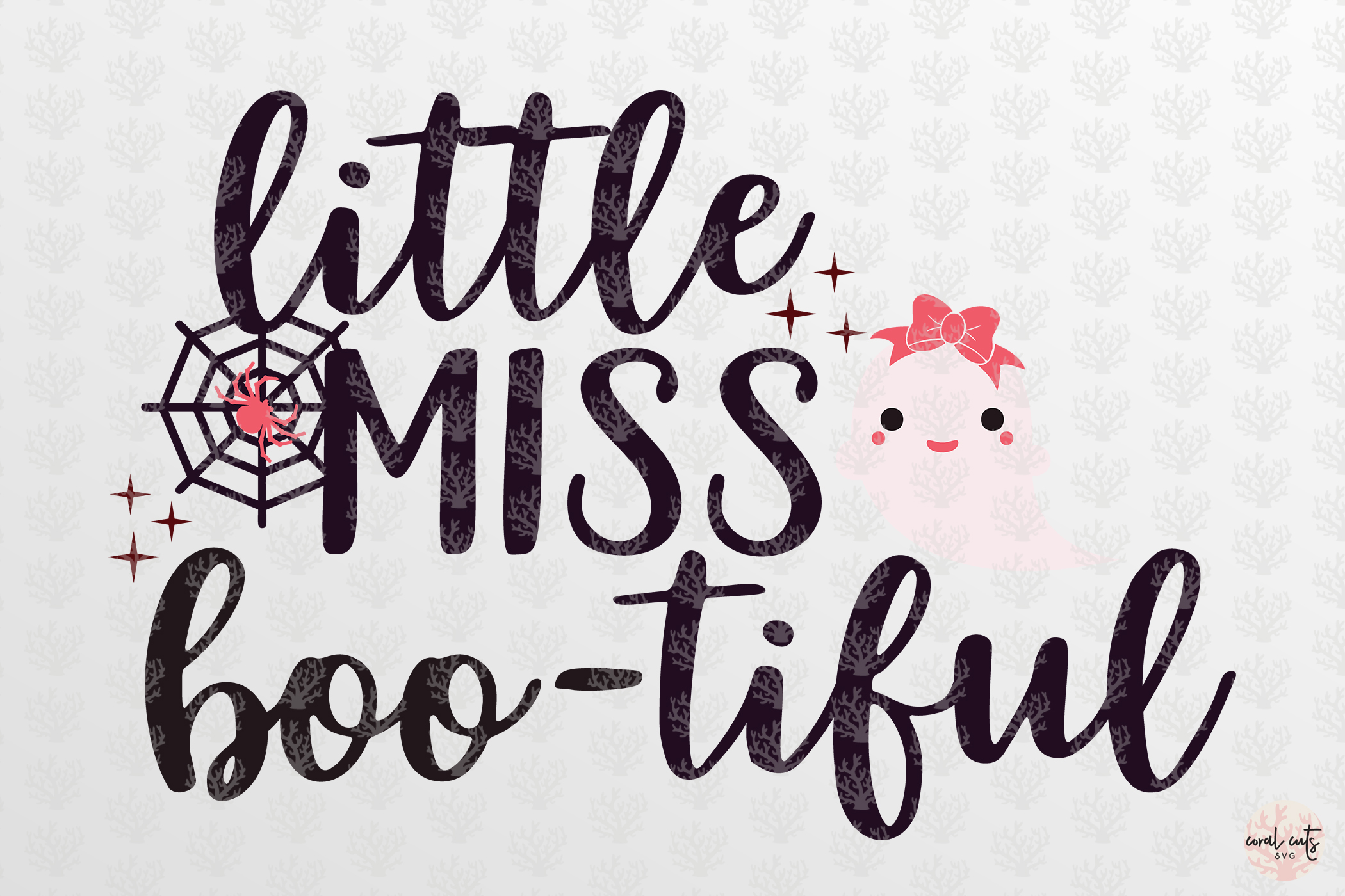 Little Miss Bootiful - Halloween SVG EPS DXF PNG Cut Files example image 3