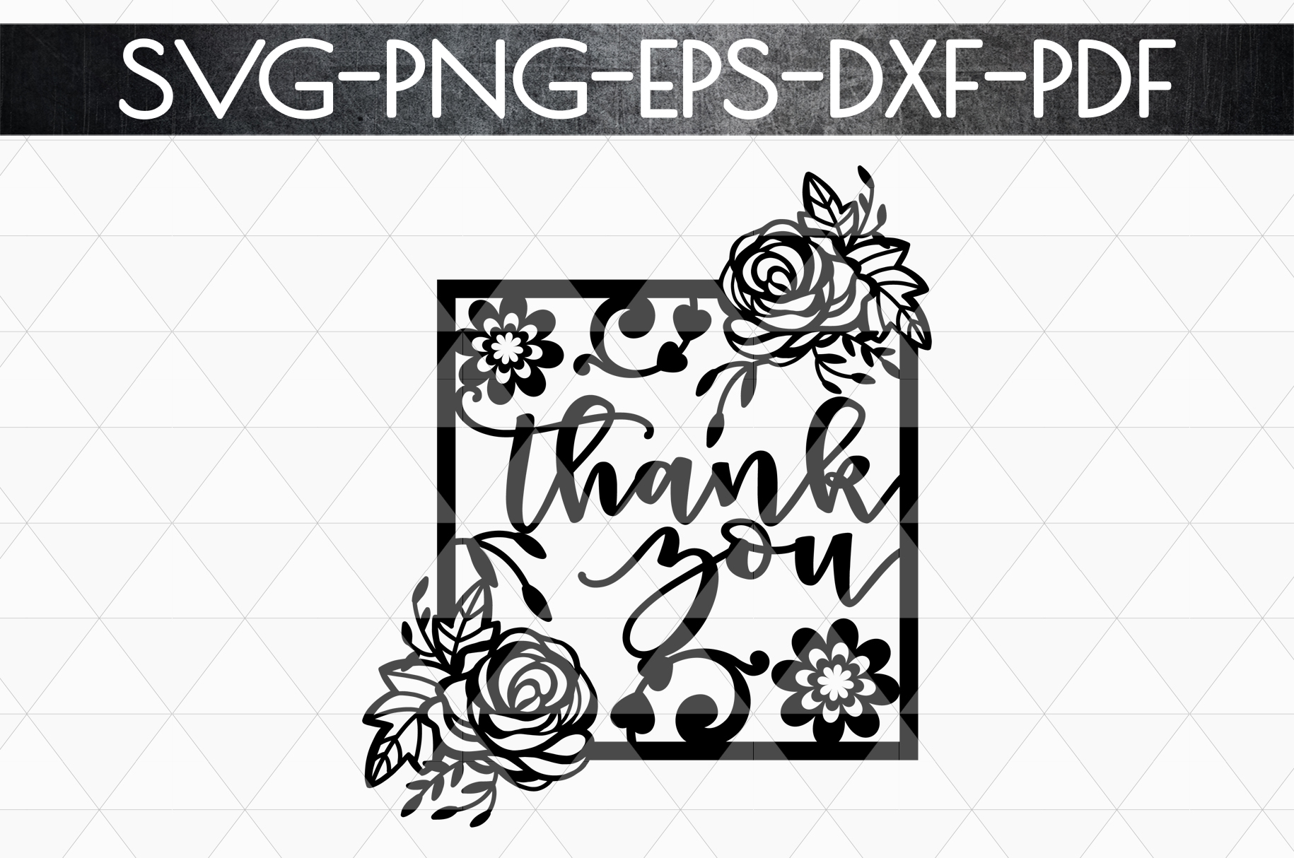 Thank You 5 Papercut Template, Appreciation Frame SVG, PDF example image 4