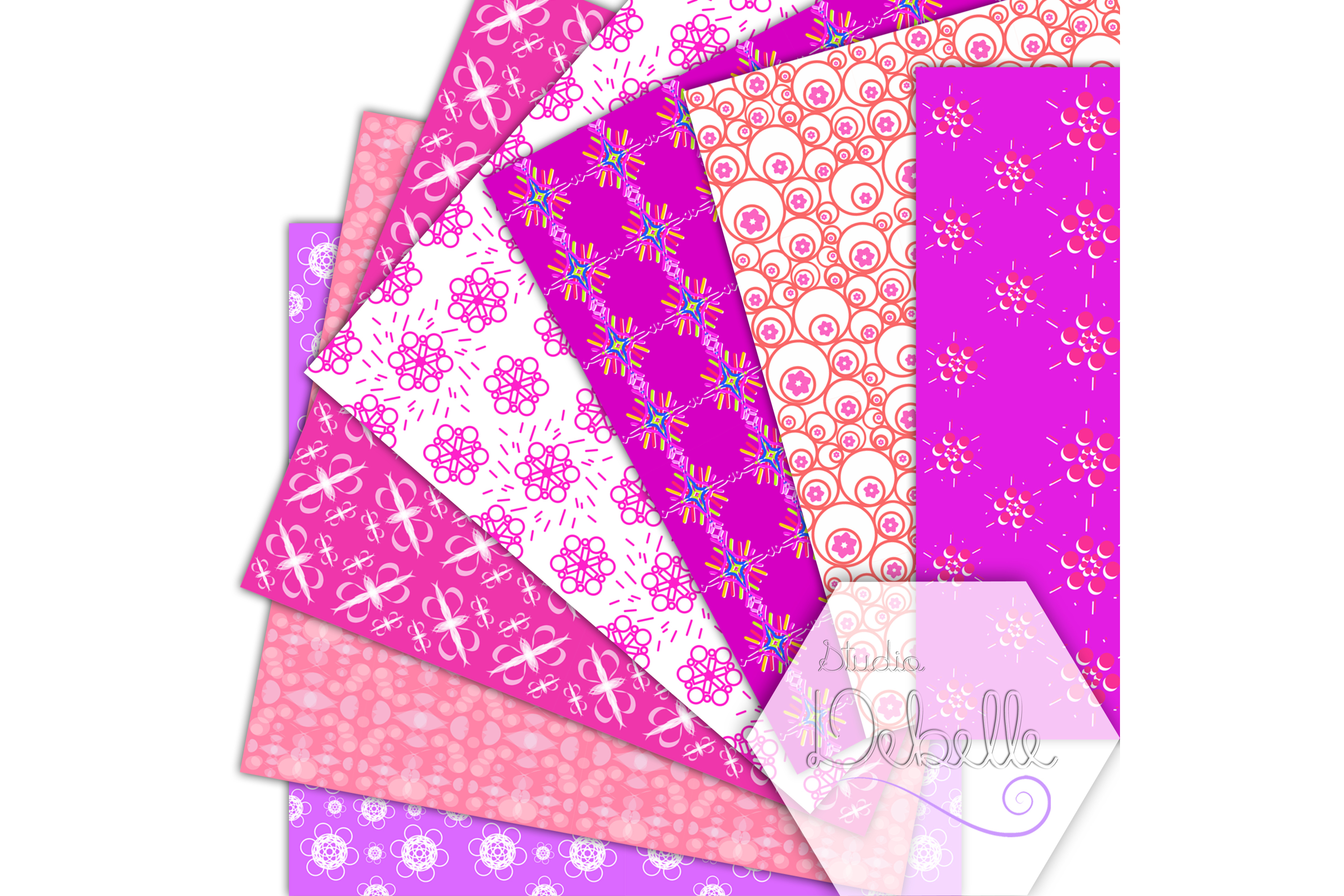 Fashion Pink digital paper seamless pattern example image 4