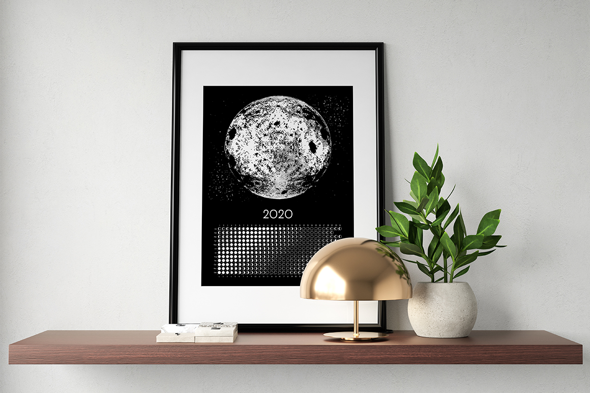 Moon Calendar 2020 Black & White example image 5