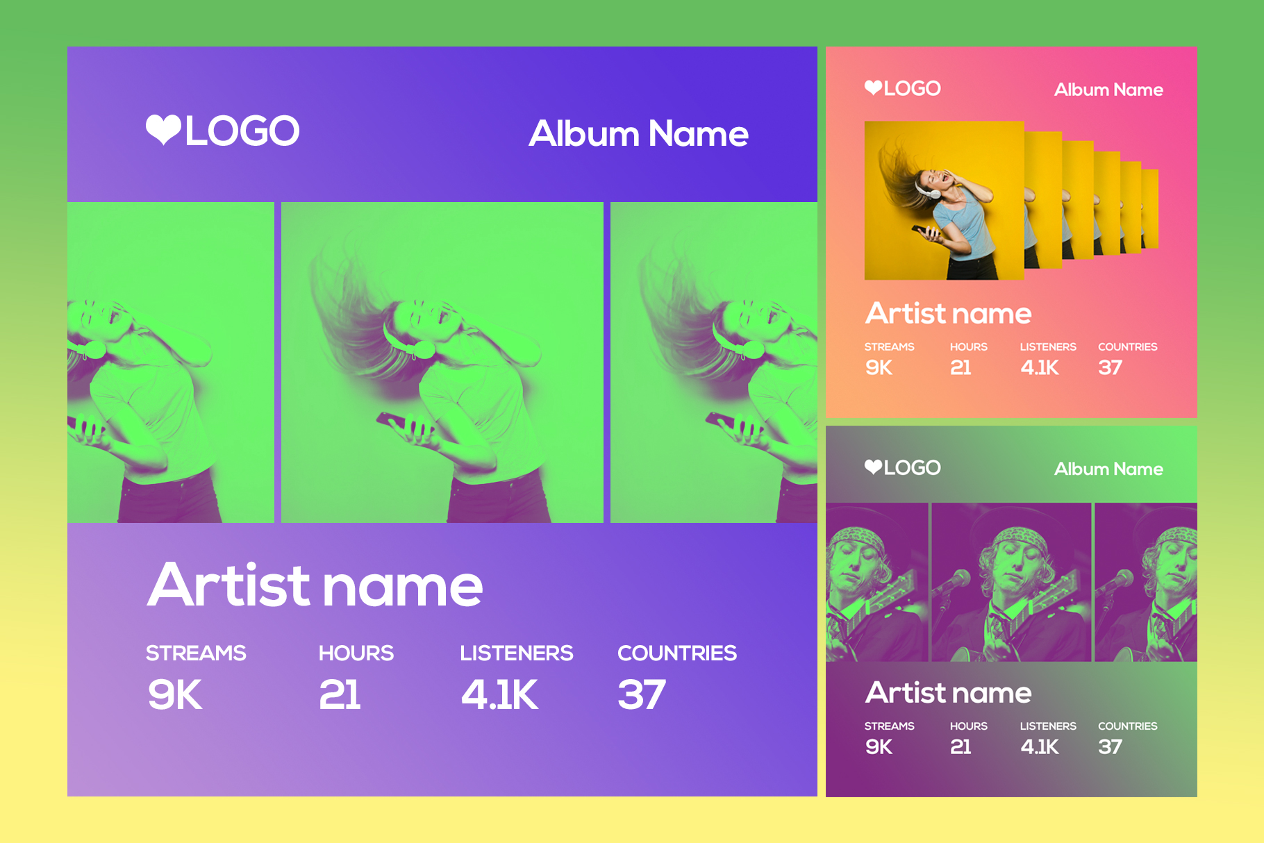 Spotify Style Photo Template example image 1