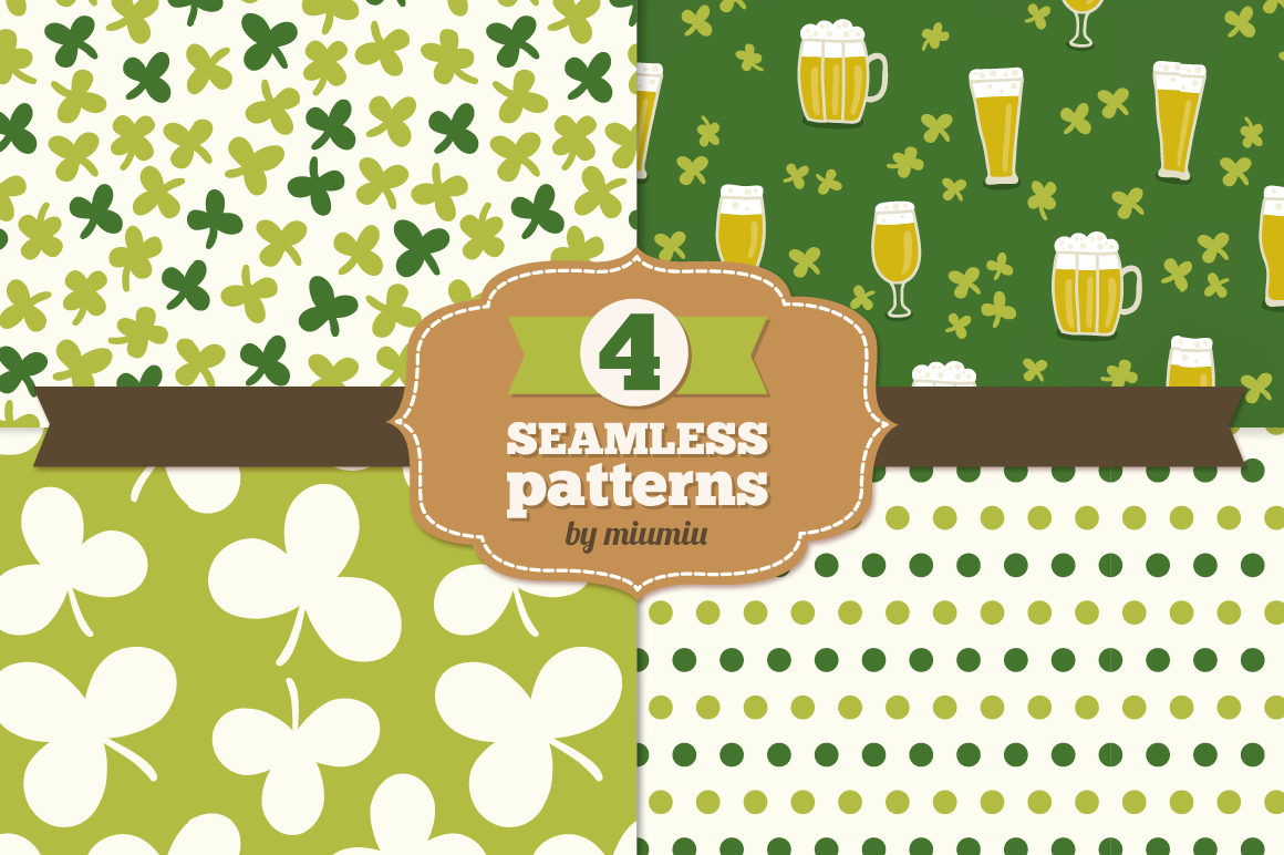 Set of Holiday Seamless Patterns example image 1