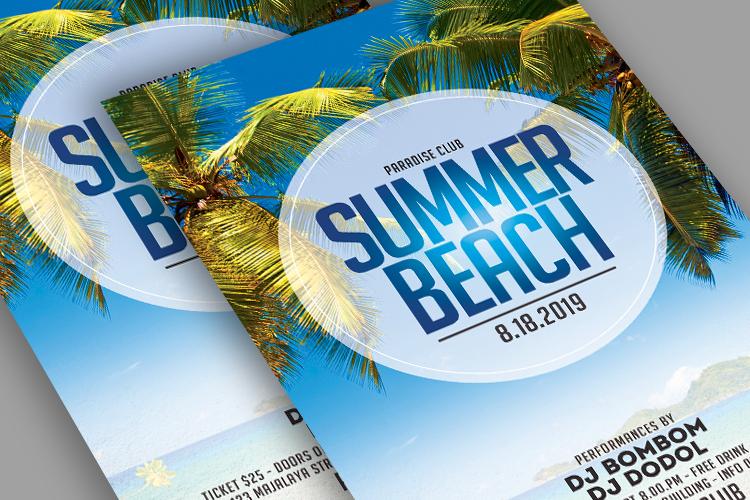 Summer Beach Flyer example image 3