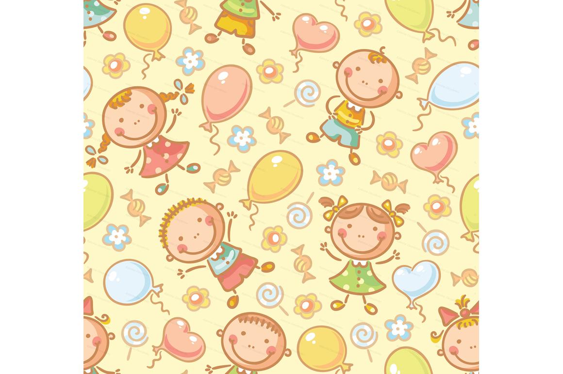 Happy Cartoon Kids Bundle, children doodle, kids doodle example image 17