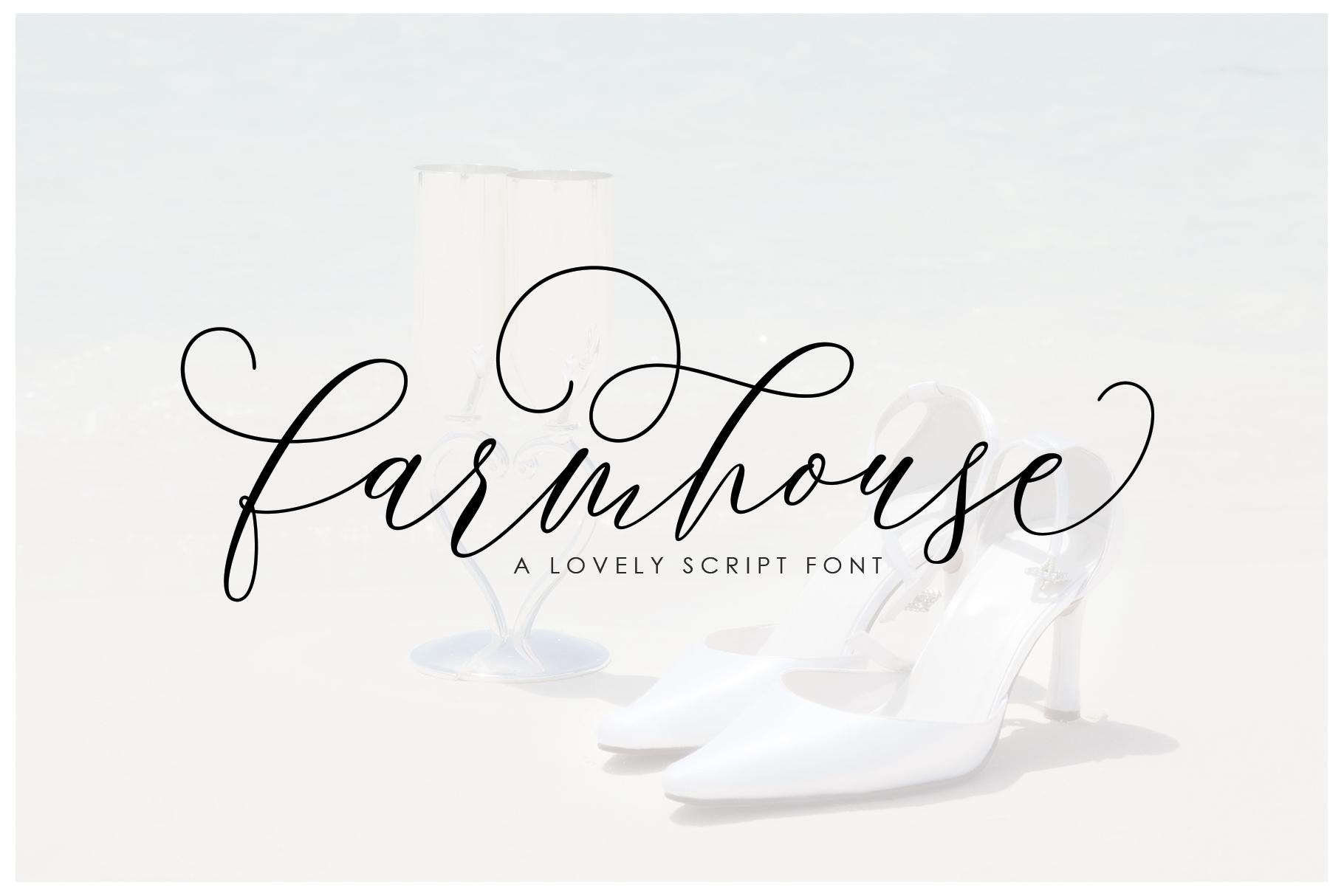 Farmhouse Script example image 1