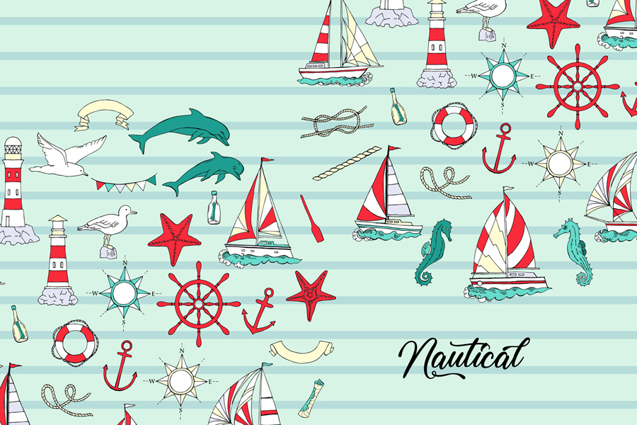 Nautical Elements with Ships example image 3