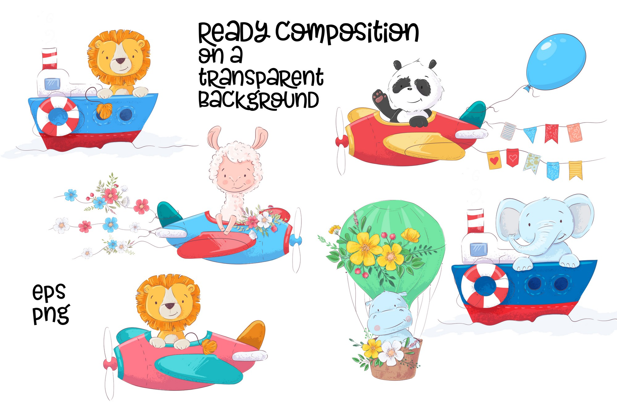 Tropical animals vector clip art example image 11