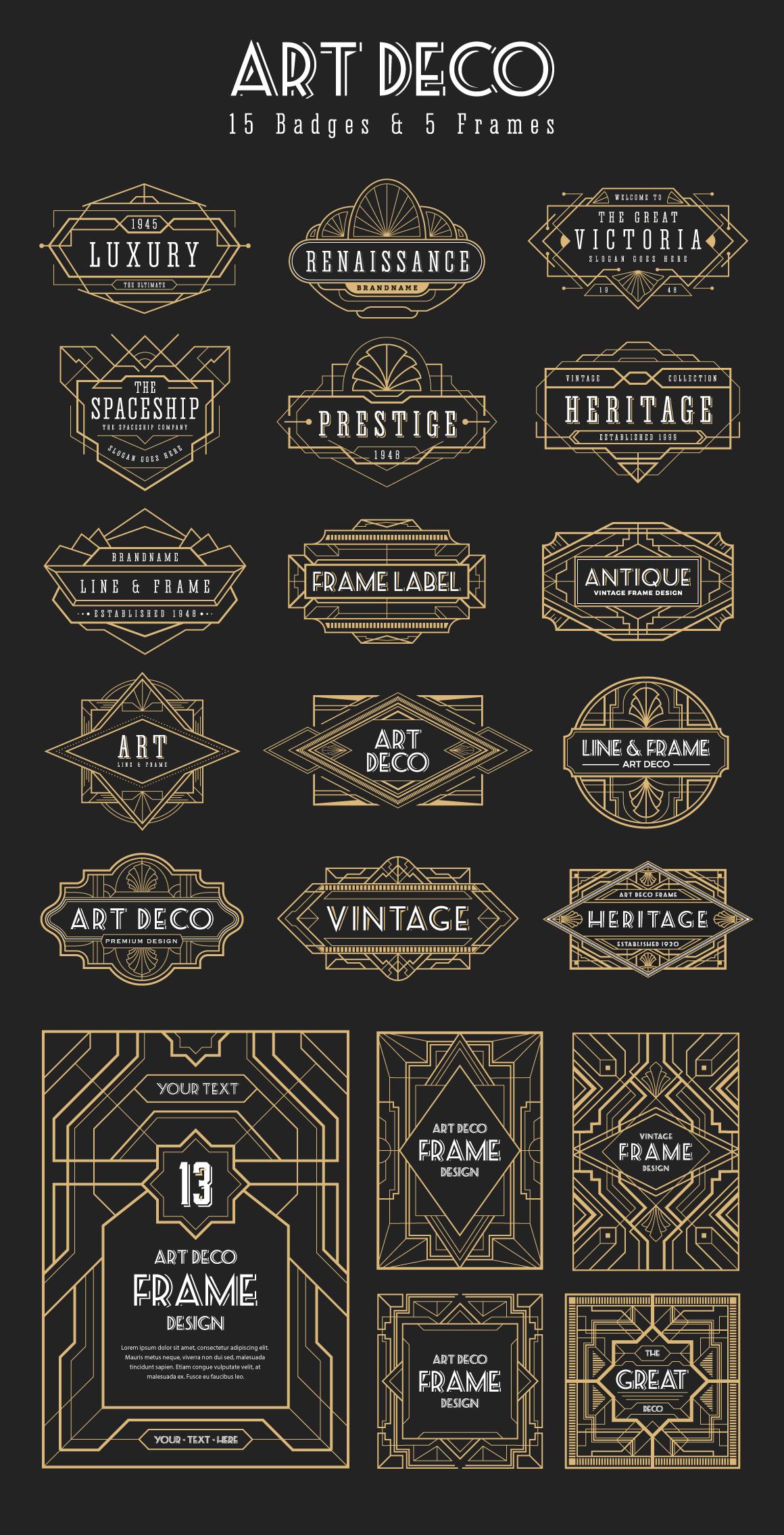 30 Line Art Badge & Frame Label example image 5