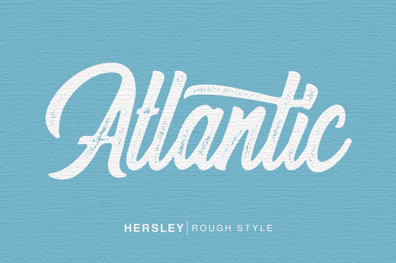 Hersley Typeface example image 2