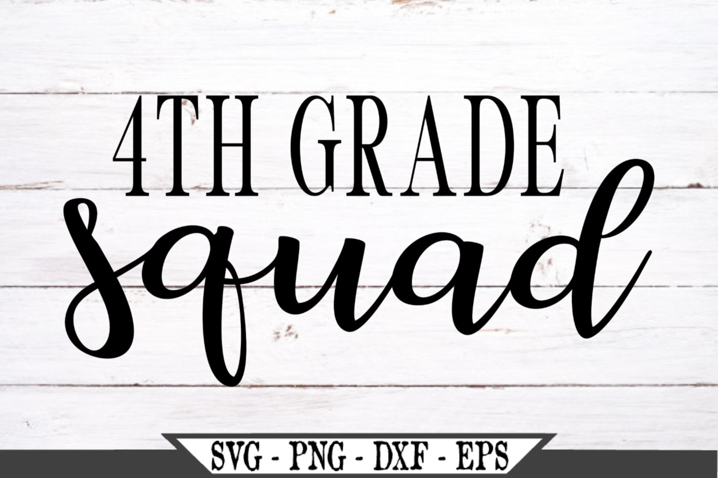 4th Grade Squad for Fourth Grader SVG example image 2
