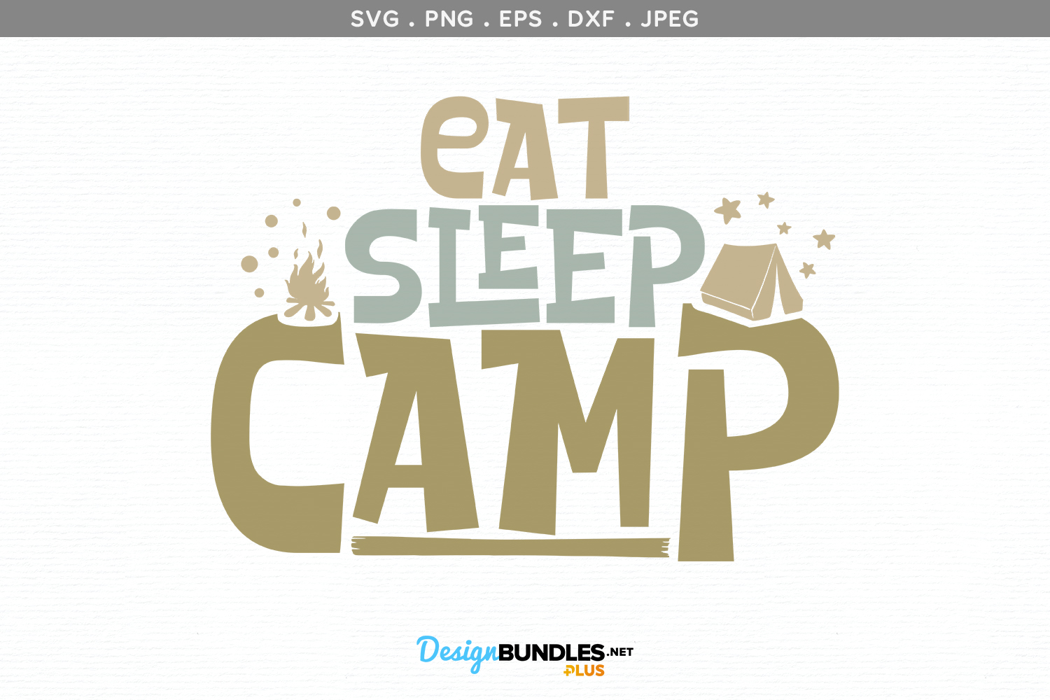 Eat, Sleep, Camp - svg design example image 2
