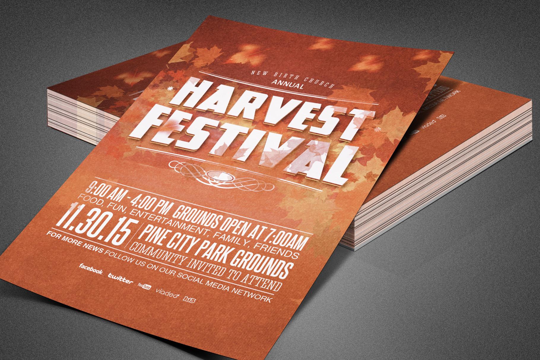 Harvest Festival Church Flyer example image 2