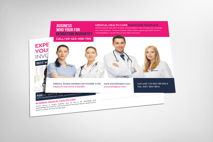 Medical Health Care Business Postcard example image 1