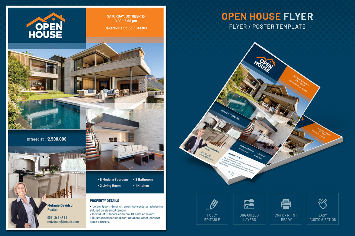 OPEN HOUSE FLYER example image 1