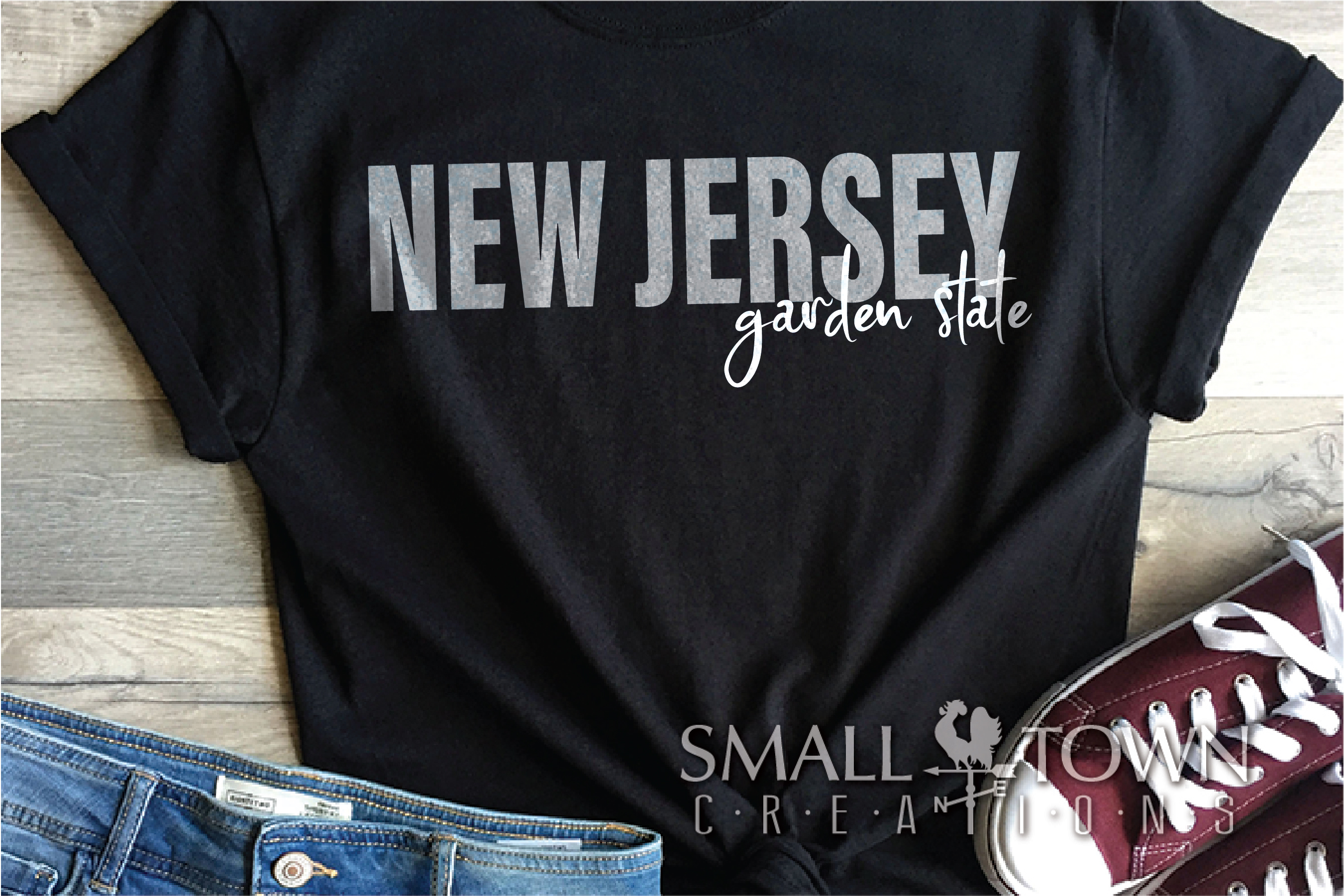 New Jersey, Garden State - slogan, PRINT, CUT & DESIGN example image 4