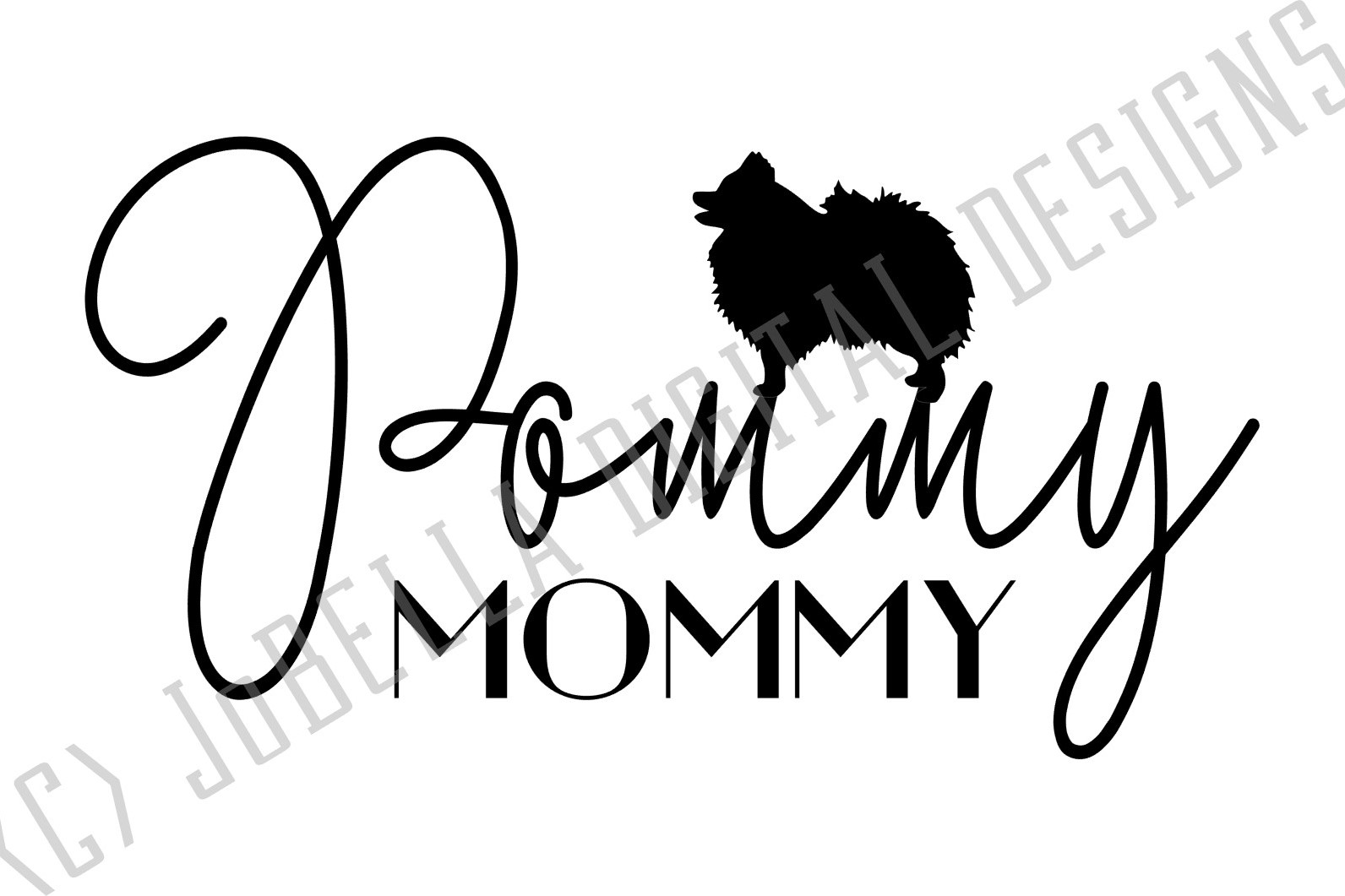 Pommy Mommy SVG and Printable Dog Lover Design example image 3