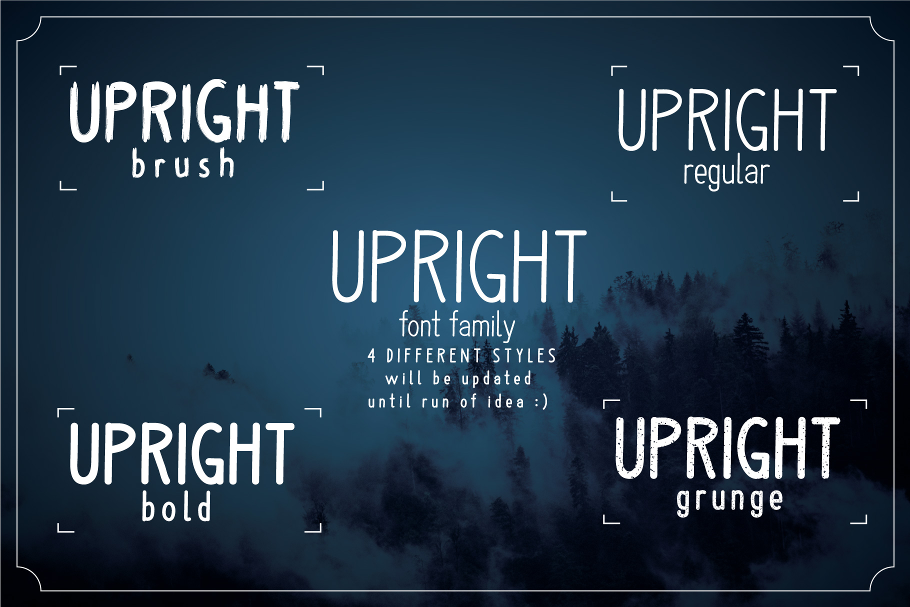Upright Font Family example image 3