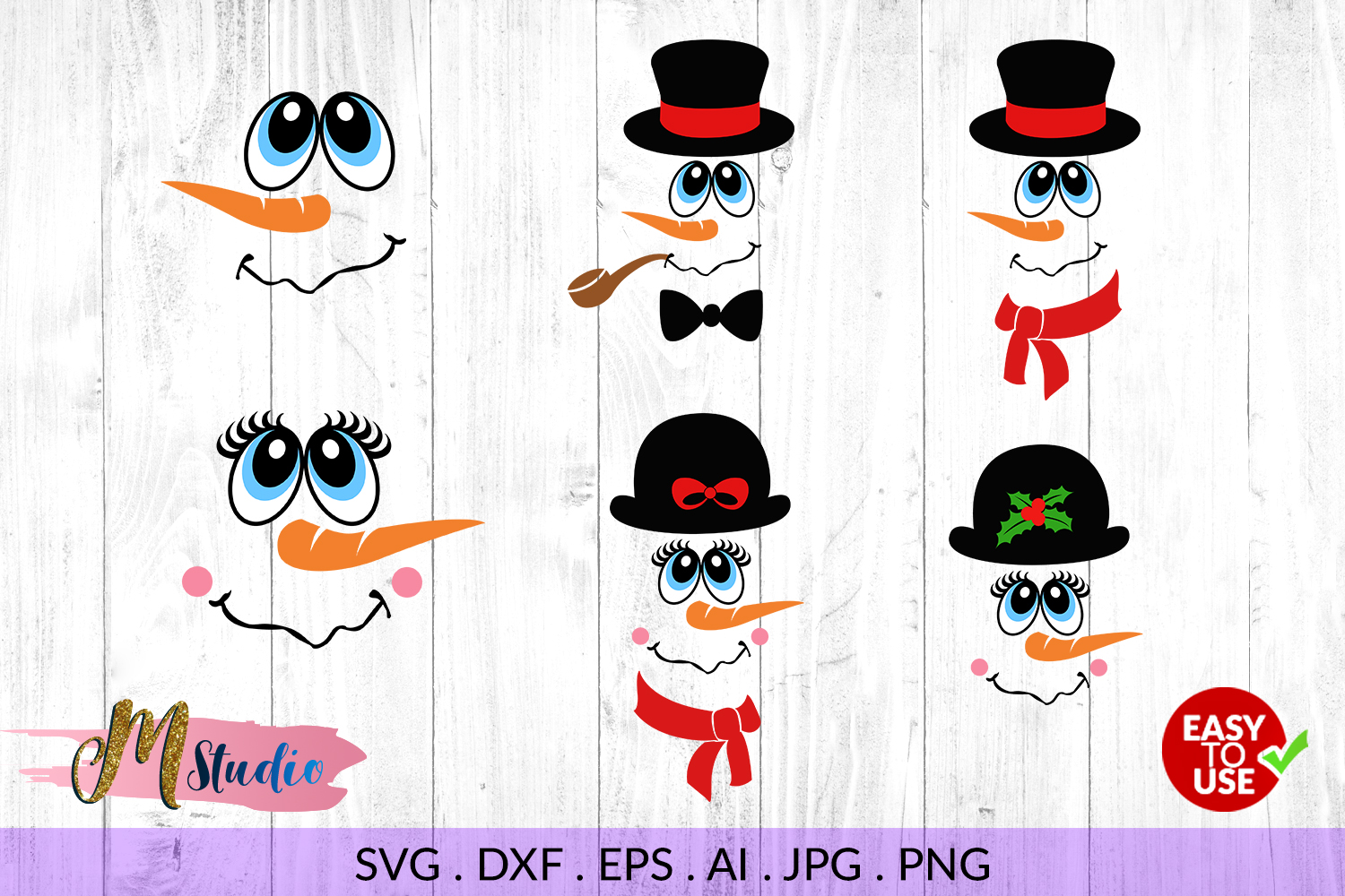 Download Snowman faces svg , for Silhouette Cameo or Cricut