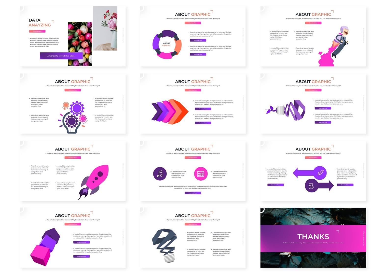 Floralia | Powerpoint, Keynote, GoogleSlides Template example image 6