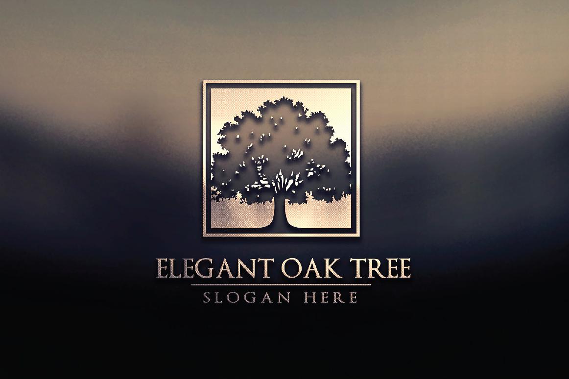 Green Oak Tree Logo vol 3 example image 3