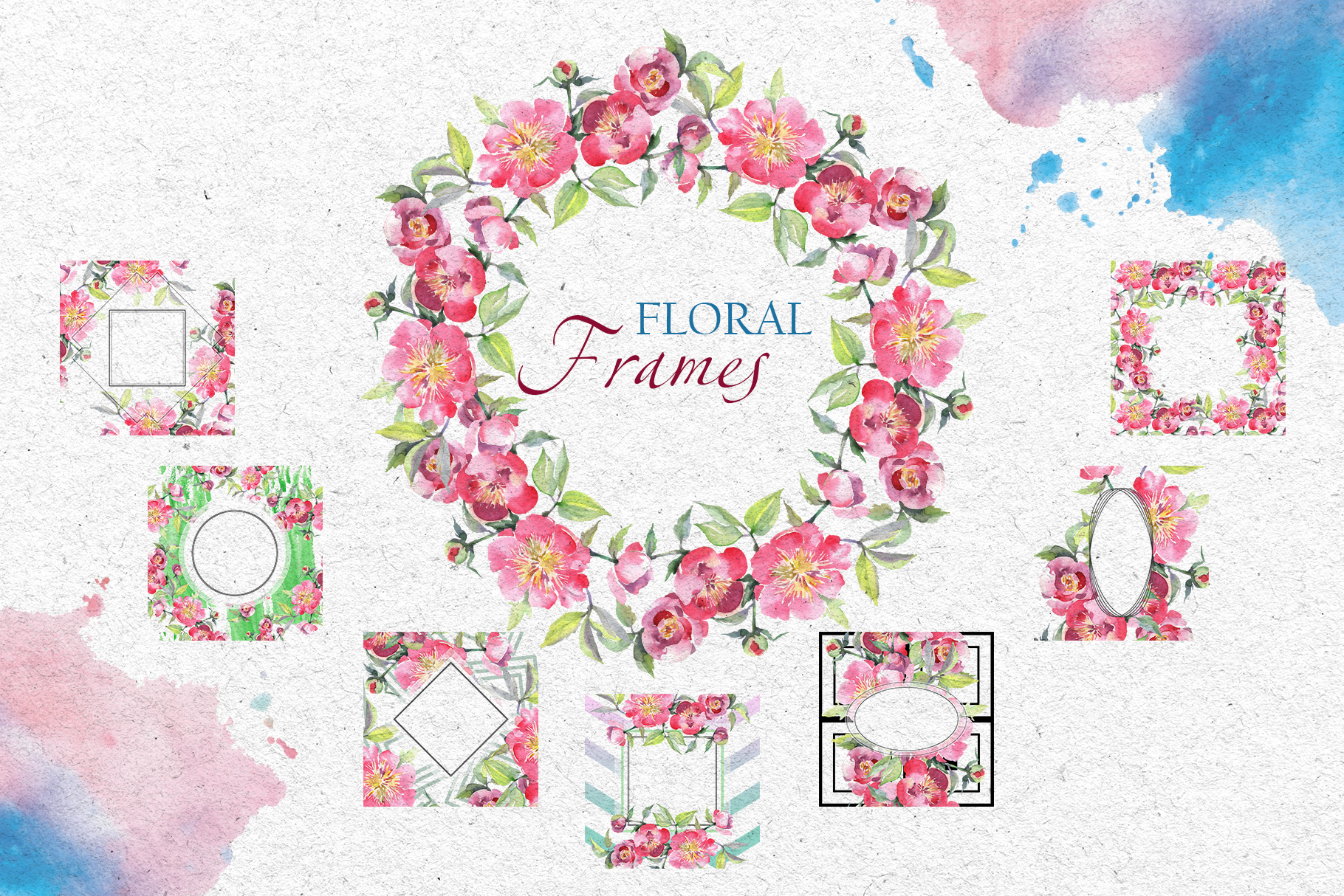 Bouquet with tea roses Watercolor png example image 7