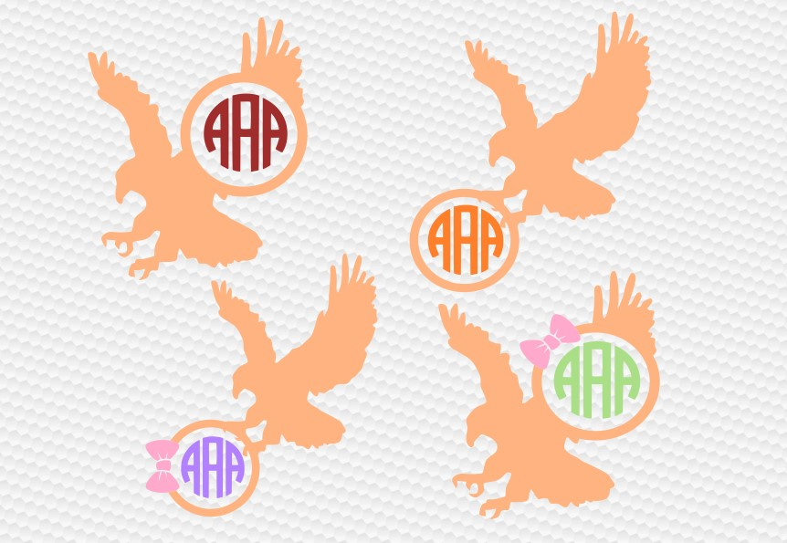 eagle monogram svg example image 1