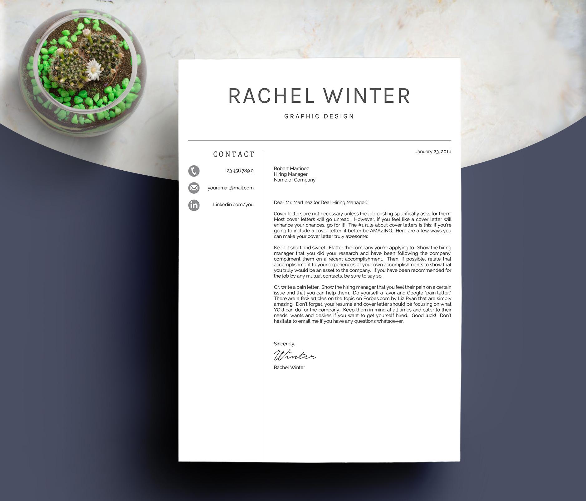 Creative Resume Template example image 5