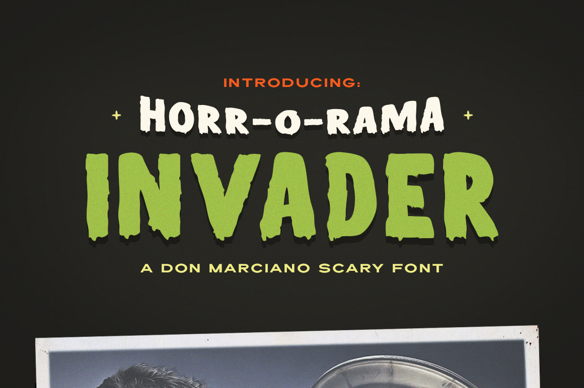 Invader Scary Font example image 1