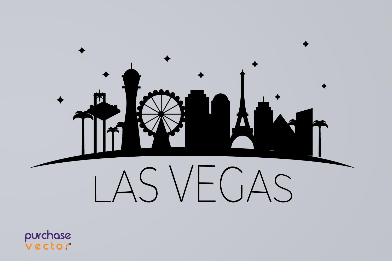 SVG- Las Vegas Skyline Cut file example image 2