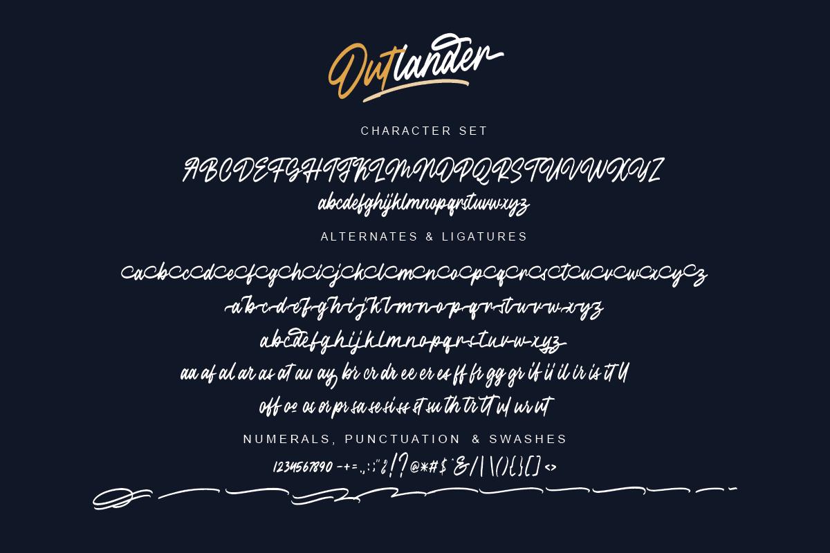 Outlander Brush Script example image 10