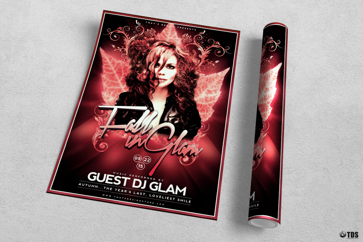 Fall in Glam Flyer Template V4 example image 3