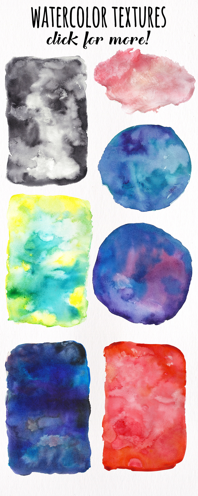 Watercolor Textures - card edition example image 17
