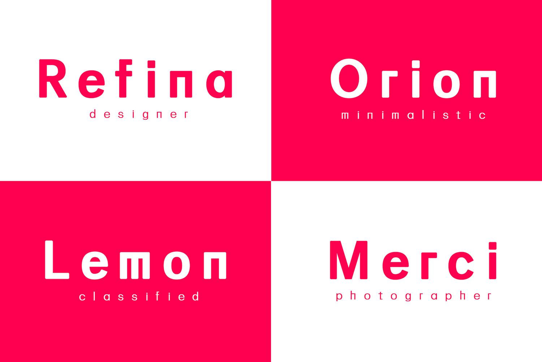 Linnett Sans Serif Font Family example image 9