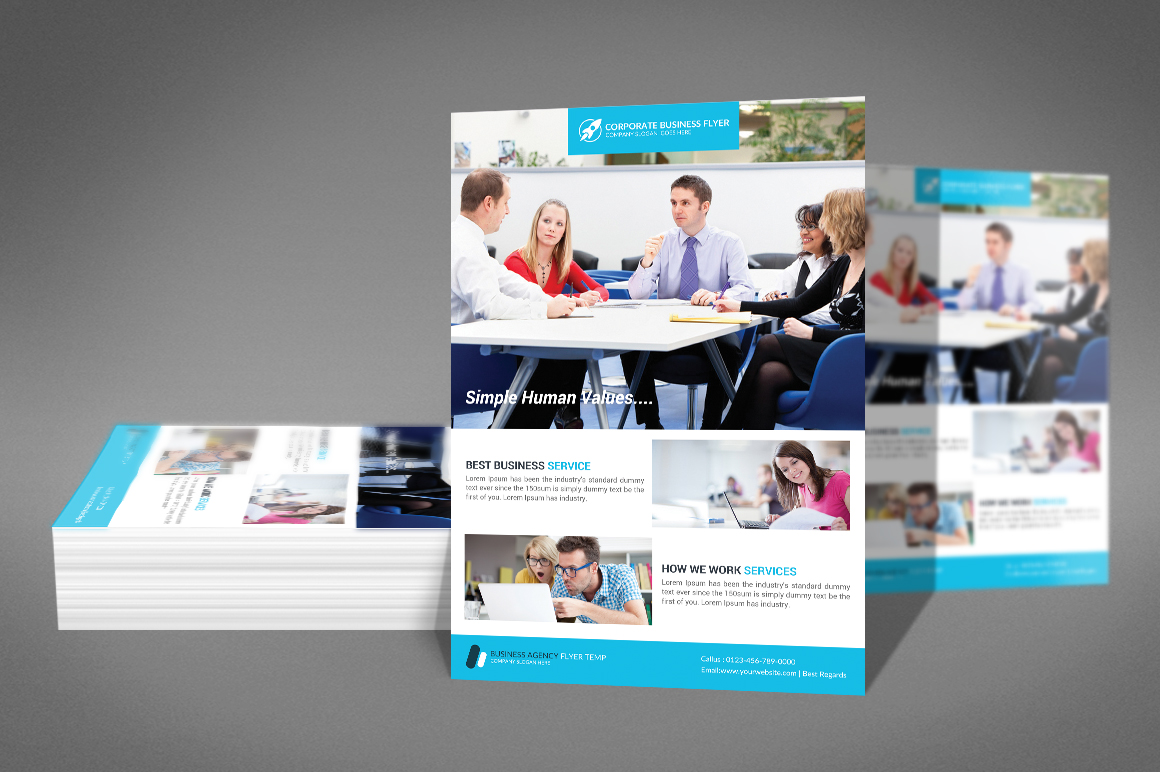 Simple Corporate Business Flyer Template Design example image 2