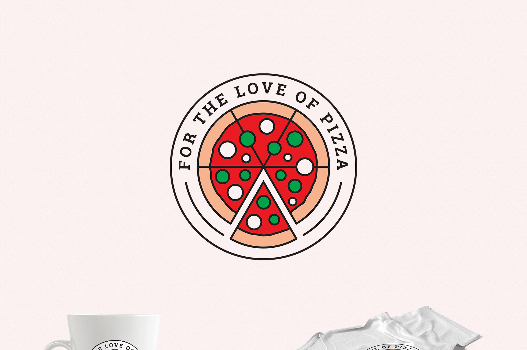 For the Love of Pizza Logo Template example image 2